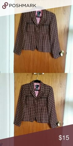 """Lightweight Blazer Lined blazer with two front breast  pocket 22 1/2"""" length Jackets & Coats Blazers"""