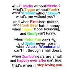 Disney love quote<3