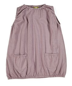 Mauve Noemi Organic Bubble Dress - Toddler & Kids by Nui Organics #zulily #zulilyfinds