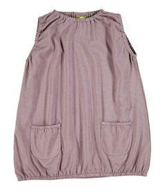 Mauve Noemi Organic Bubble Dress - Toddler & Kids by Nui Organics #zulily #zulilyfinds