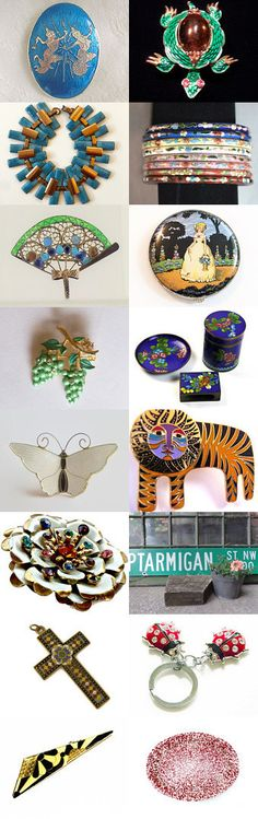 Fascinating Enamels Vogueteam   by Gena Lightle on Etsy--Pinned+with+TreasuryPin.com