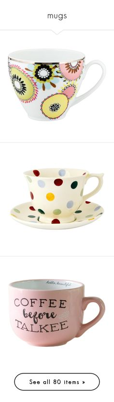 """""""mugs"""" by cglife ❤ liked on Polyvore featuring home, kitchen & dining, drinkware, green, porcelain tea cups, green tea cup, missoni, floral tea cups, pottery cups and tea-cup"""