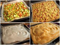 Wie bäckt man Rhabarberkuchen mit einer Baiserhaube