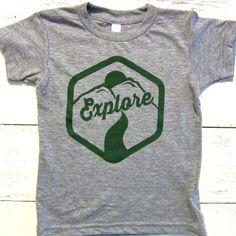 Explorer toddler shirt. Little Explorer toddler tshirt. Opt Outdoors shirt.