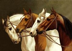 Anonymous - Painting of Horses, 1893