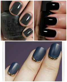Black...a must for winter # Fashion Reactor: Nail it