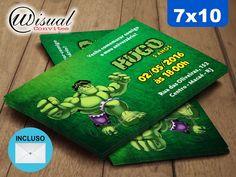 Convite Hulk 7x10cm