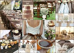 Champagne and Latte Wedding Collage by Rock your Locks     http://www.facebook.com/pages/Rock-your-Locks/133025596754055