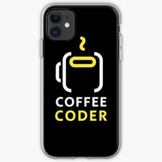 'Coffee Coder ' iPhone Case by Some Fun, Iphone Case Covers, Iphone 11, It Works, Funny Memes, Type, Coffee, Printed, Awesome