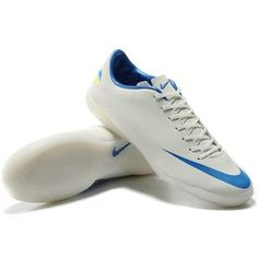 2012 Nike Mercurial Victory III IC 2012 New Indoor Soccer Shoes White Blue0