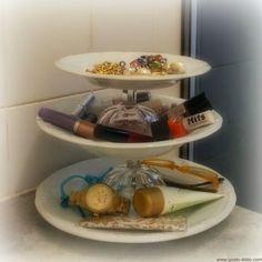 Faça você mesma: Prato tripo para cupcakes, frutas ou bijuterias (P.A.P. - D.I.Y.)