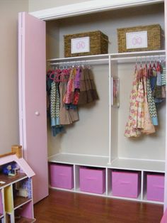 49 ideas kids room ideas shared closet organization for 2019 Attic Bedroom Closets, Girls Bedroom, Bedrooms, Bedroom Ideas, Girls Closet Organization, Organization Ideas, Ideas Armario, Kid Closet, Closet Ideas