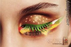 I want a hamburger eye!
