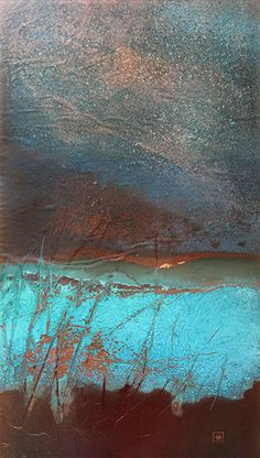 Copper Art Gallery of Images - Copperhand Studio Abstract Landscape, Abstract Art, Modern Art, Contemporary Art, Copper Art, Encaustic Art, Art Techniques, Painting Inspiration, Metal Art