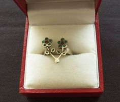 $5.00 Silvertone Double Flower Ring Size 6 (82515-1365MS) jewelry, collectibles #Unbranded #Cocktail