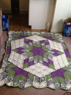 Crochet quilt pattern