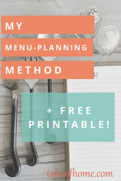 My menu-planning system. Works for any kind of diet or plan, including Trim Healthy Mama! FREE printable PDF download chart to help you organize!