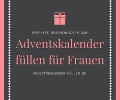 f r frauen basteln pinterest adventskalender f llen kleine dinge und adventskalender. Black Bedroom Furniture Sets. Home Design Ideas
