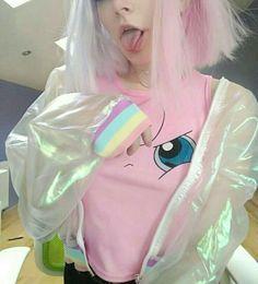 Daddykink - Photos - inocent and hot - casais lesbicos Harajuku Fashion, Kawaii Fashion, Cute Fashion, Pastel Grunge, Pastel Goth, Pastel Pink, Looks Kawaii, Pastel Fashion, Emo Girls