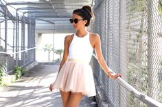 The Material Girl - Lauren mini tulle skirt in blush by Bliss Tulle
