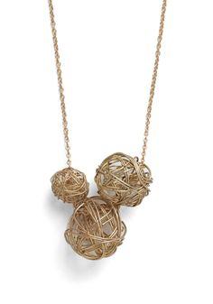 Beautiful yarn necklace