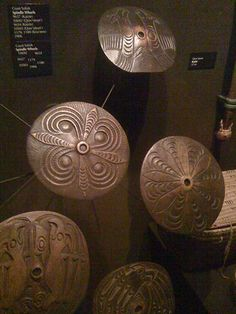 Coast Salish spindle whorls; credit: spinpygora