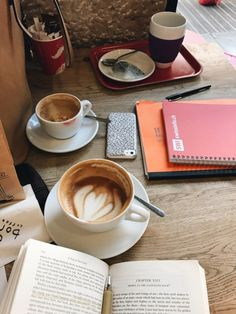 study time with coffee.
