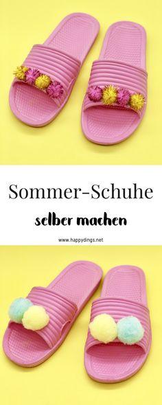 765645e0f288 Schuhe als schickes Sommer Outfit für Damen selber machen. Einfache  Upcycling Ideen für deine Kleidung