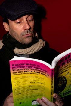 Jon Hamm aka Don Draper reads. - Bookish - Celebrities reading