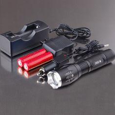 5-Mode Cree 1800 lumen LED wiederaufladbare Taschenlampe Set2013