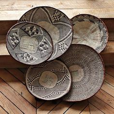 Traditional Tonga Baskets | west elm. would love this for wall art in my entry.