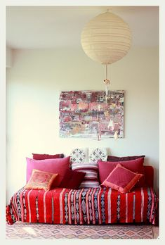 Loving... making even the most humble of furniture special using textiles...