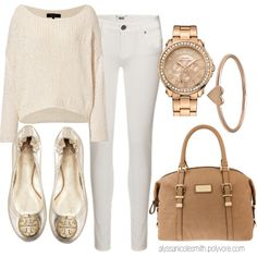 """Winter Whites with Rose Gold Accents"" by alyssanicolesmith on Polyvore"