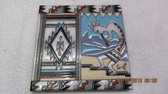 Vintage EARTHTONES Enamel Art Tile Trivet 6  SOUTHWEST Signed TU-OTI | eBay