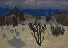 Annabel Gault Sage Brush and Cactus oil on paper 26.3 x 37.5 cm