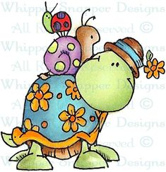 Oreo & Friends - Reptiles - Animals - Rubber Stamps