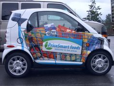 Smart car trolley wrap printed from a large format printer. Find more on Large Format Printers here, http://www.governorsolutions.com/large-format-printers/