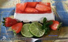 Epres-túrós desszert recept fotóval Thing 1, Watermelon, Ale, Cheesecake, Strawberry, Snacks, Cookies, Baking, Fruit