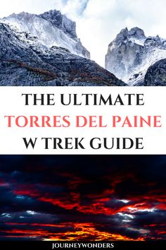 Want to learn all about the best multi day hike of Patagonia? Read this ultimate Torres del Paine W Trek Trekking Guide and get ready for the mountains of wonders! South America Destinations, South America Travel, Travel Destinations, Best Travel Guides, Travel Advice, Travel Tips, Travel Plan, Travel Ideas, Brazil Travel