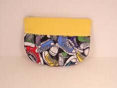 High Tops w Yellow Pleated Leigh Wallet Gaget Case by abigailleigh, $14.00