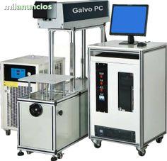 La maquina de marcado y corte laser CO2 es un equipo de ultima generacion. La serie Galvo PC presenta un conjunto completo de laser CO2 de radiofrecuencia sellado, cabezal galvanometrico de alta velocidad, PC Industrial y eje Z motorizado (mesa). El siste