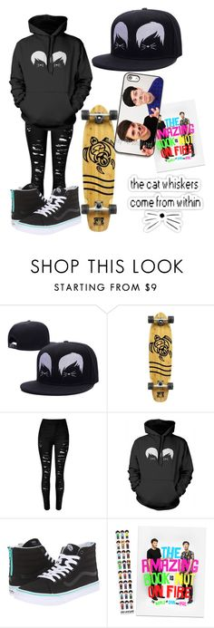 """""""Dan and Phil"""" by musiclover135 ❤ liked on Polyvore featuring Body Glove, Vans, phan and danandphil"""
