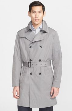 Armani Collezioni Double Breasted Trench Coat available at #Nordstrom