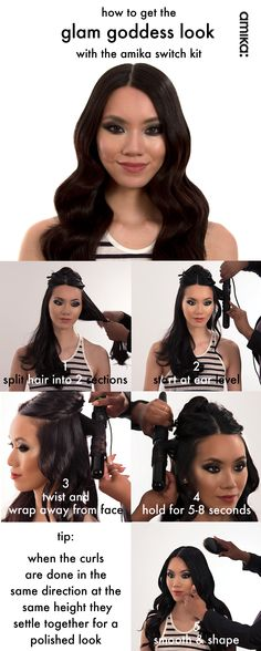 Learn how to get the glam goddess look (plus tips and tricks!) with the #Amika Switch Kit #howto #getthelook #hair #hairstyles #Sephora