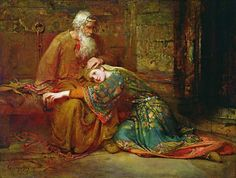 Cordelia Comforting her Father, King Lear, in Prison 1886 - George William Joy (1844-1925)