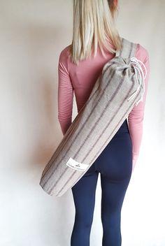 Handmade in Ireland by the Mindful Menace Jute Fabric, Yoga Mat Bag, Yoga Gifts, Mindful, Sustainable Fashion, Philosophy, Ireland, Boho, Cotton
