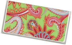 Checkbook Cover Madagascar Floral Paisley by rabbitholeonline, $6.25