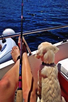 """""""Everyday Should Feel This Good"""" vv was saying it right! A good sunny day of fishing and hanging with a pup would be a day well remembered"""