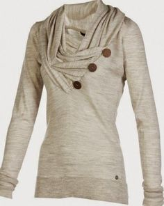 Stylist: casual, but I know I could easily dress this up for work. taupe sweater, relaxed style