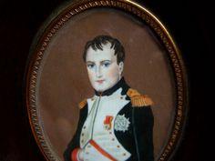 Antique Miniature Portrait Of Napoléon Bonaparte